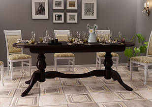 Стіл кухонний обідній з дерева Діоніс ДОК 200х100х80
