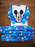 Теплющая махровая пижама Микки 86-140 см