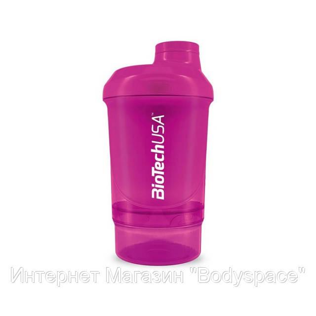 Biotech USA, Спортивный шейкер Wave+ Nano Shaker 300ml (+150ml) Magic Magenta