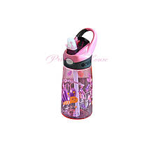 Детская бутылка с поилкой, бутылочка с трубочкой для детей 400 мл