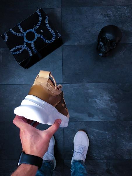 6b2641e5fb28 Мужские Кроссовки Versace Chain Reaction 2 Chainz Tan — в Категории ...