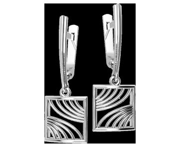 Серьги серебряные  Fusion 41192