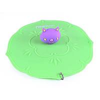 Крышка силиконовая для кружки Котенок Fissman 11,5 см цвет зеленый чай