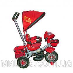 AZIMUT BC-16S Princessa Cars Panda детский красный велосипед
