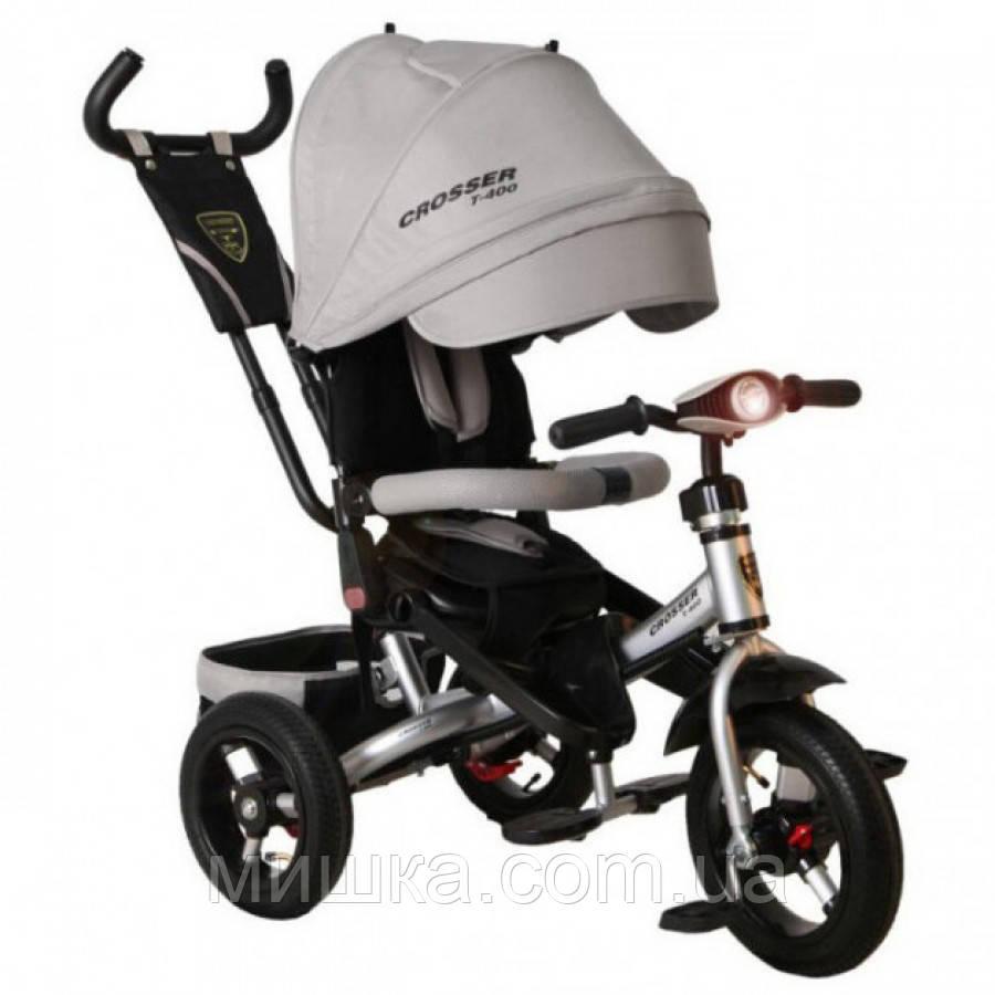 CROSSER T-400 TRINITY AIR детский серый велосипед трехколесный