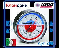 Icma Термоманометр с запорным клапаном 10 бар