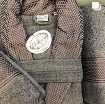 Мужской набор тройка (халат, полотенце банное, полотенце ручное)