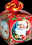 "Новогодняя Упаковка ""Бант Візерунки"" для сладких подарков 500-700 г, фото 2"