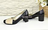 """Туфли кожаные женские на устойчивом каблуке. ТМ """"Maestro"""", фото 3"""