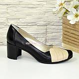 """Туфли кожаные женские на устойчивом каблуке. ТМ """"Maestro"""", фото 4"""