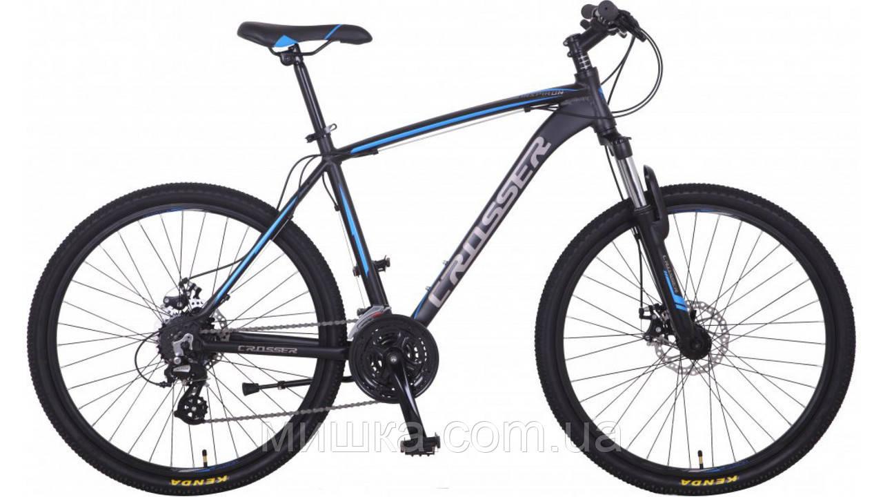 """Велосипед  горный алюминиевый Inspiron*17 24"""" черно-синий"""