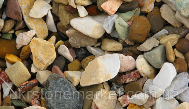 Подільський камінь галька МІкс