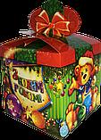 "Новогодняя Упаковка ""Бант Візерунки"" для сладких подарков 500-700 г, фото 5"