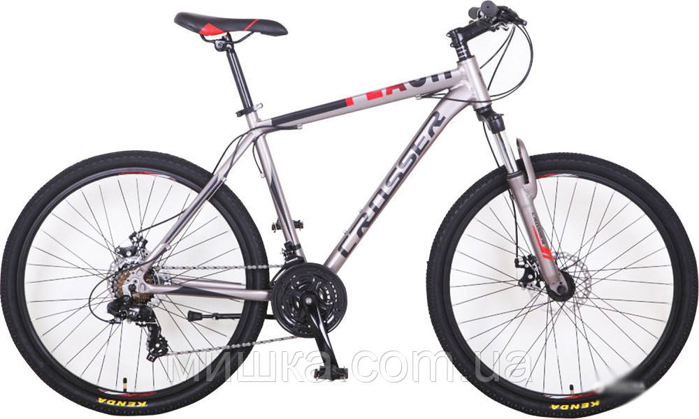 """Велосипед Crosser Flash*19 26"""" гірський алюмінієвий сірий"""