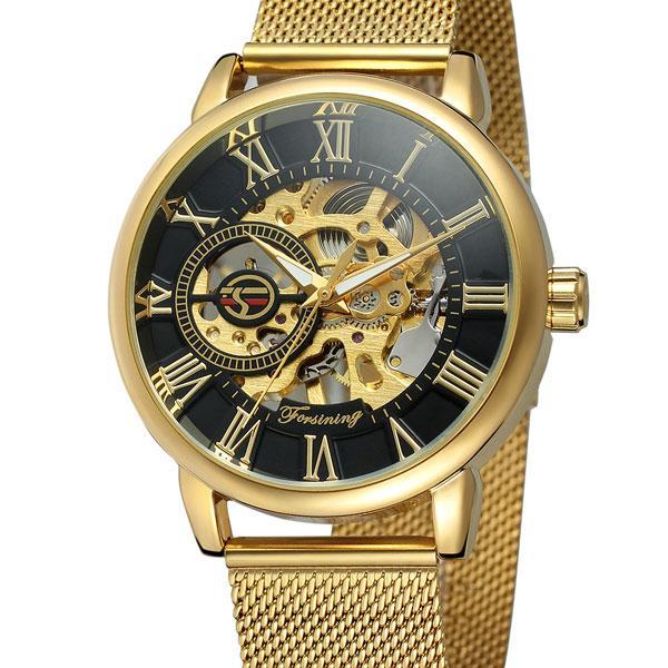 Forsining Мужские часы Forsining Rich Gold