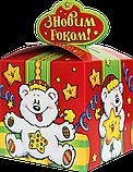 """Новорічна Упаковка """"Бант Ведмежа"""" для солодких подарунків 500-700 г, фото 3"""