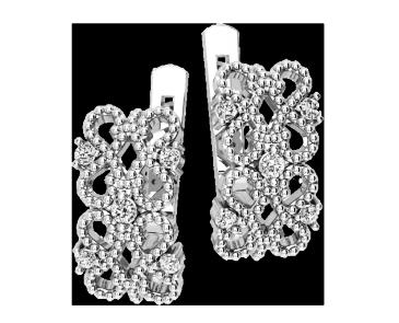 Серьги серебряные Ажурные 41194