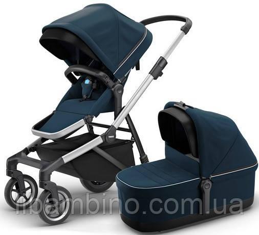 Дитяча універсальна коляска преміум класу 2 в 1 Thule Sleek Navy Blue
