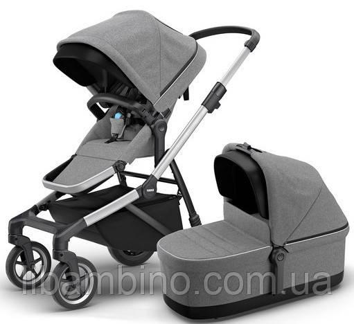 Дитяча універсальна коляска преміум класу 2 в 1 Thule Sleek Grey Melange