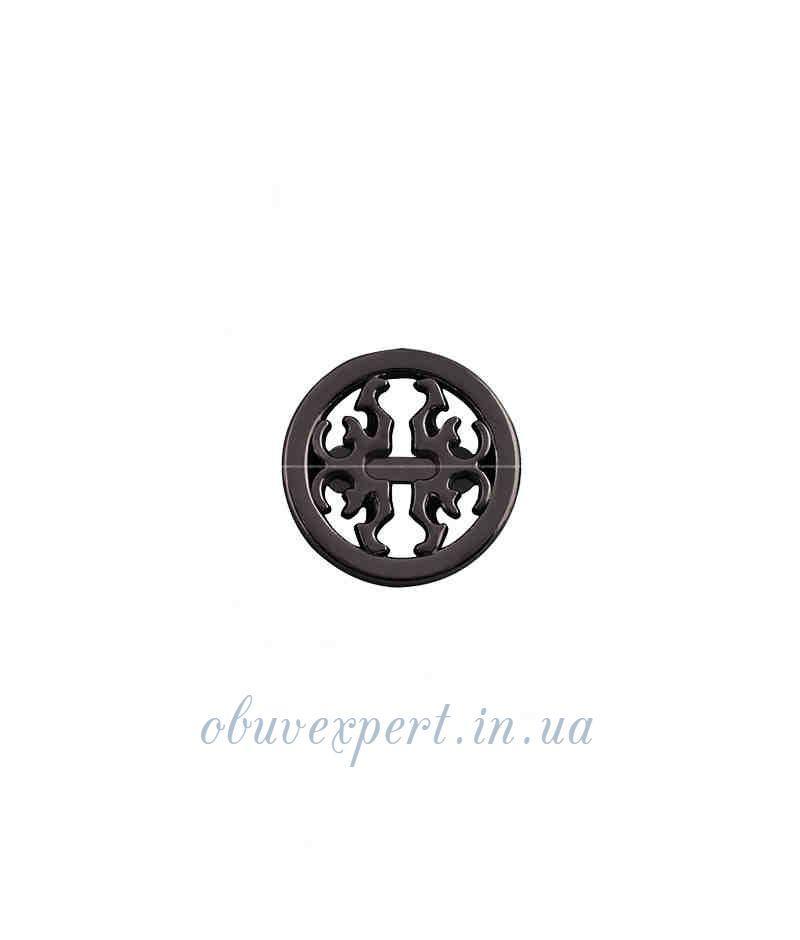 Декор невеликий 18 мм Чорний нікель
