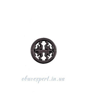 Декор невеликий 18 мм Чорний нікель, фото 2
