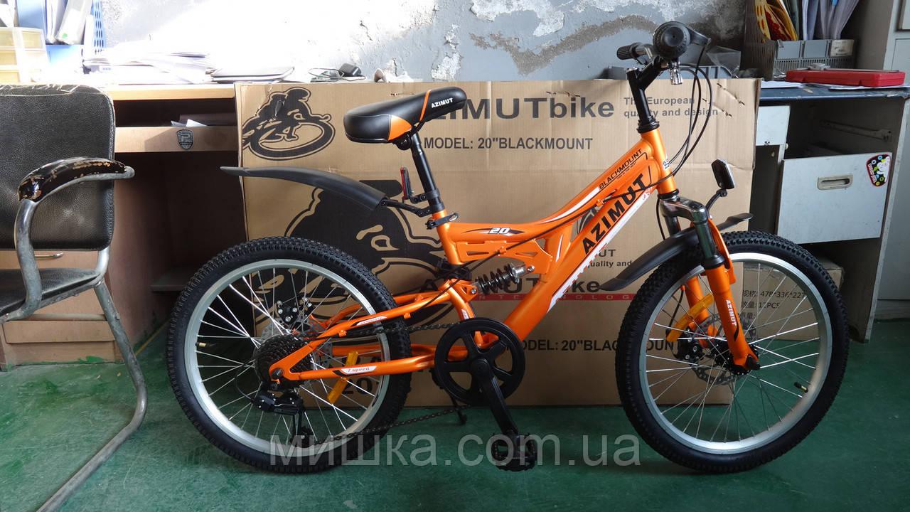 """Велосипед детский Azimut Blackmount 20"""" двухподвесный"""