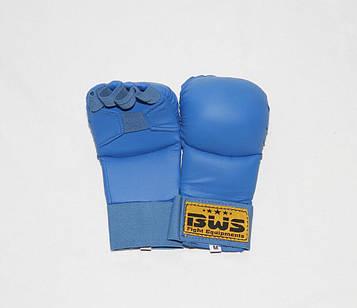 Накладки (рукавички) для карате PU World Sport(S-XL,синій)