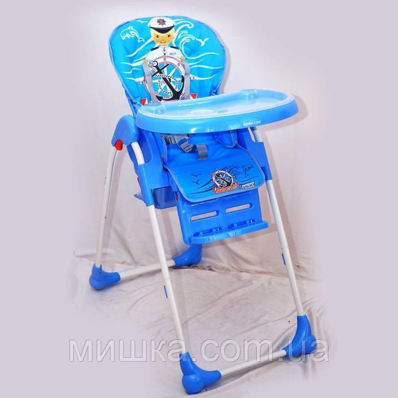 """Дитячий стільчик для годування """"Sigma-Line"""" C-C-1 синій"""