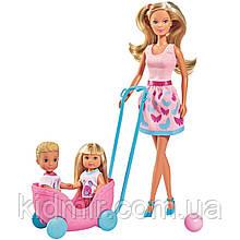 Штеффи, Эви и Тимми Набор кукол Прогулка двойни Steffi Simba 5733229