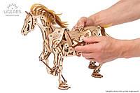 Конструктор развивающий деревянный формат 3Д «Конь-Механоид», фото 1