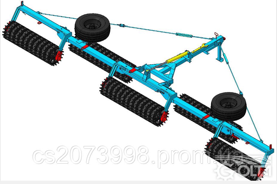 Каток зубчато-шпоровой гидрофицированный  КЗШ-9,2Г-01
