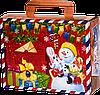 """Упаковка """"Посылочка Сніговик"""" в ассортименте для подарков 500-700г посилочка"""
