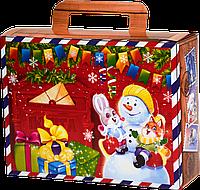 """Упаковка """"Посылочка Сніговик"""" в ассортименте для подарков 500-700г посилочка, фото 1"""