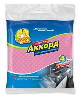 Губки-салфетки 16х16см Аккорд 4+1шт Укр.
