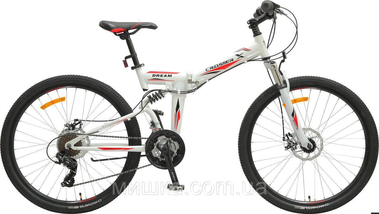 """Велосипед Crosser Dream Folding 26"""" белый горный алюминиевый складной"""