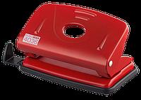 Дырокол металлический (до 10 л.), красный