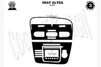 Накладки на торпеду  (Маленький комплект) Seat Altea 2004+ (декор панели Сеат Алтеа)