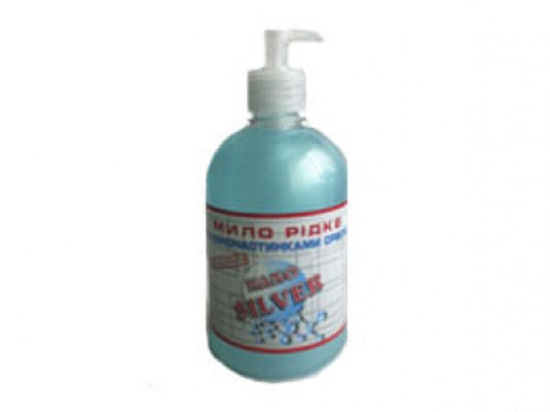Жидкое мыло Блюксис 500мл с дозатором NANO SILVER