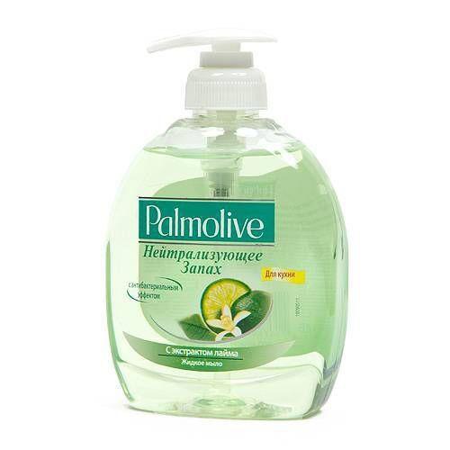 Жидкое мыло-крем  PALMOLIVE лайм нейтрализатор запаха 300мл с дозатором