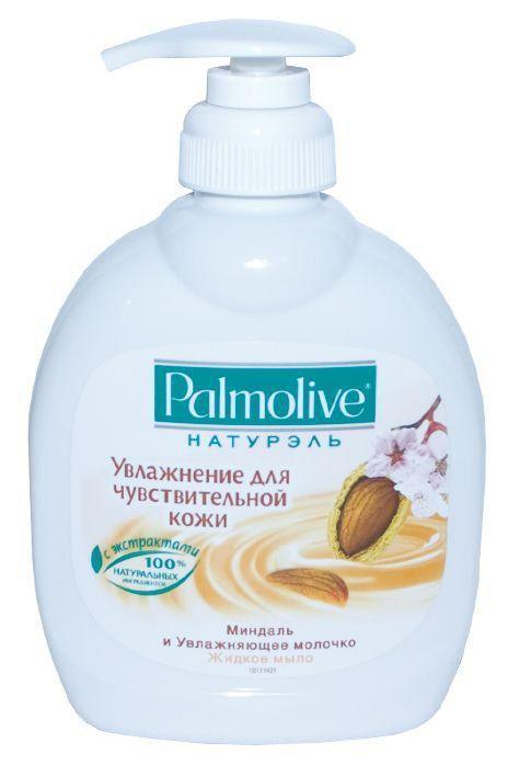 Жидкое мыло-крем  PALMOLIVE миндаль пительное 300мл с дозатором