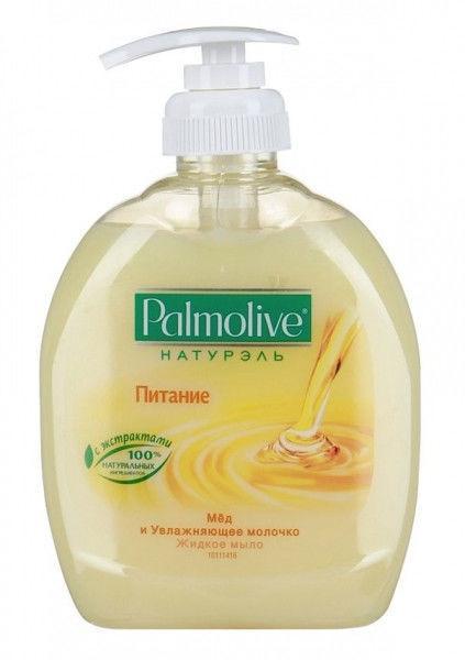 Жидкое мыло-крем  PALMOLIVE молоко+мёд 300мл с дозатором