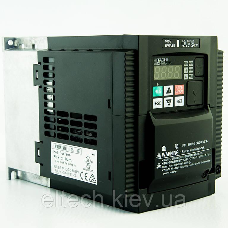 WJ200-007HF, 0.75кВт, 380В. Частотник Hitachi