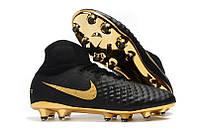 Бутсы Nike Magista Obra 2 FG  с носком black/gold, фото 1