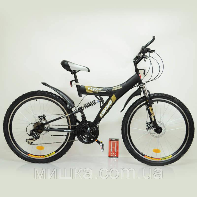 Велосипед SIGMA MAXIMA T26-726A-DBF black стильний спортивний підлітковий двухподвесной