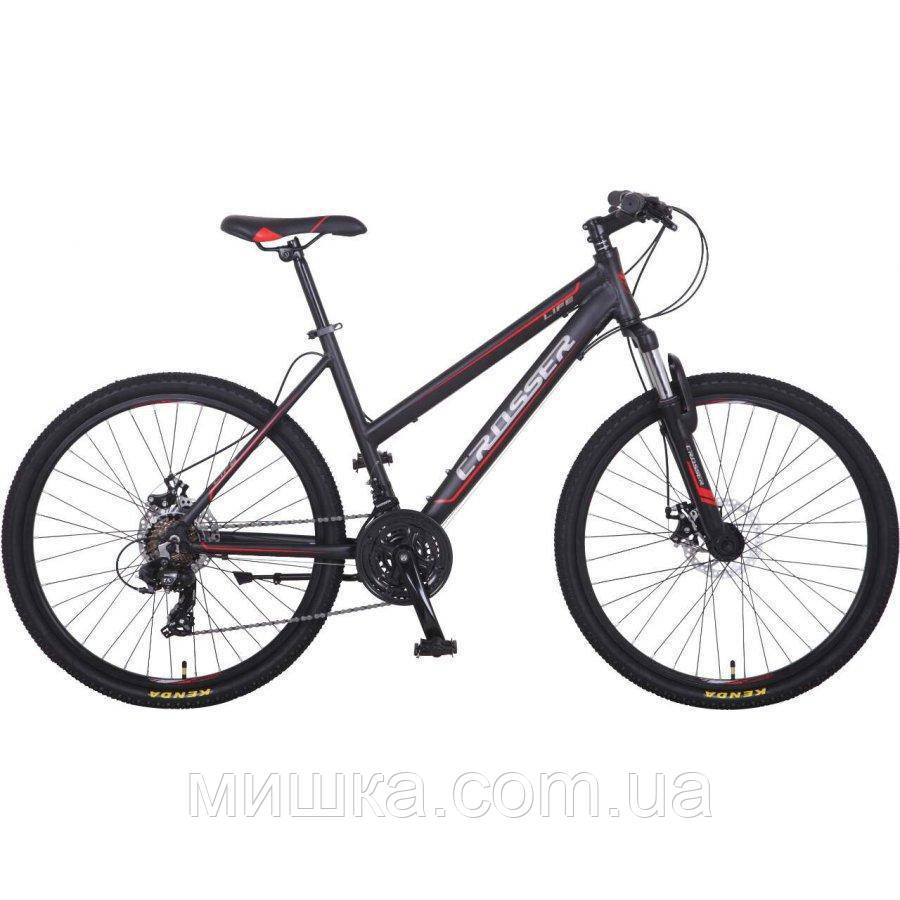 """Велосипед Crosser Life-1 New 26"""" сірий алюмінієвий гірський"""