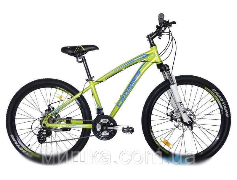 """Велосипед Crosser Summer*16 26"""" салатовый горный алюминиевый"""