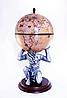 """Глобус бар напольный """"Atlas"""" – бежевый Зодиак 42016N-WE"""