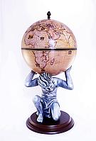 """Глобус бар напольный """"Atlas"""" – бежевый Зодиак 42016N-WE, фото 1"""
