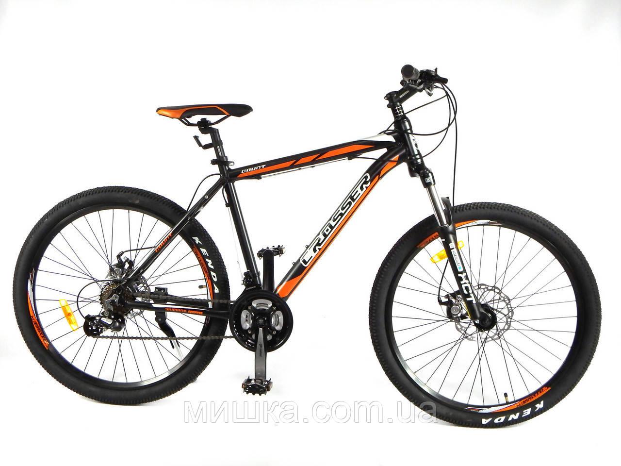 """Велосипед Crosser Count-1*21 29"""" чорно-зелений гірський алюмінієвий"""
