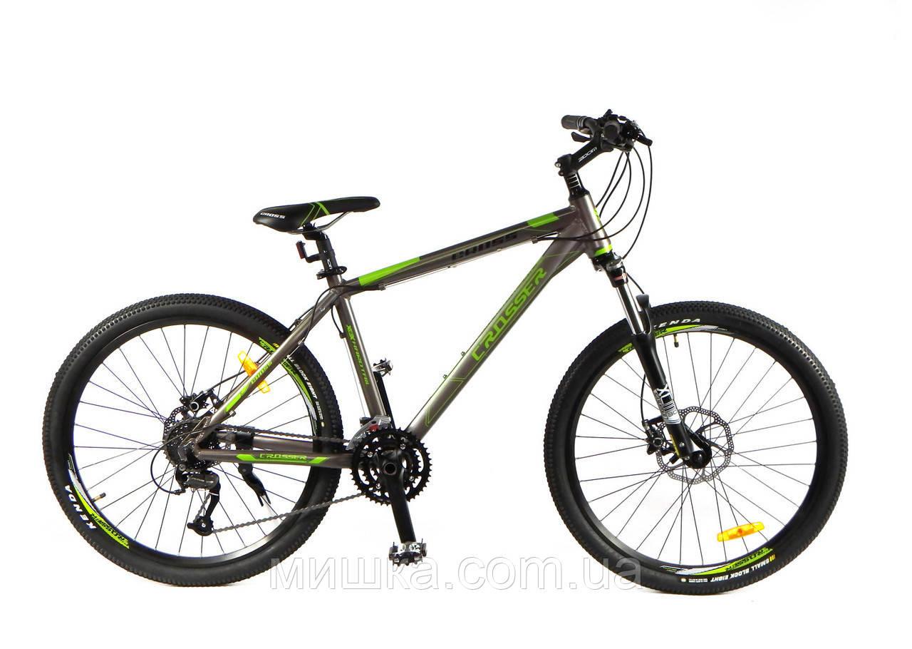 """Велосипед Crosser Cross-1 *17.5 26"""" серо-оранжевый горный алюминиевый"""